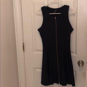 Aqua Navy Blue Dress